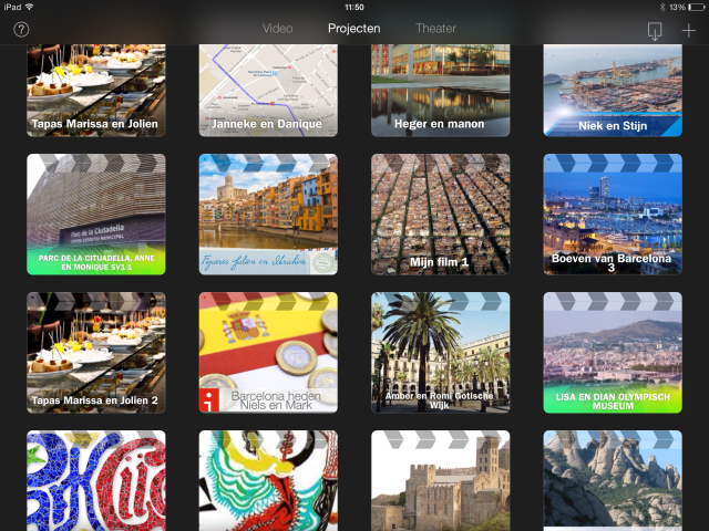 iMovie-filmprojecten verzameld via Airdrop